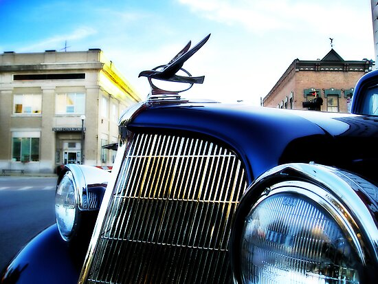 old blue car by brian gregory