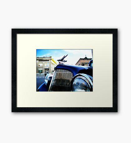 old blue car Framed Print