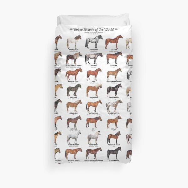 Horse Breeds Of The World Duvet Cover