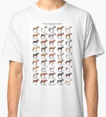 Horse Breeds Of The World Classic T-Shirt