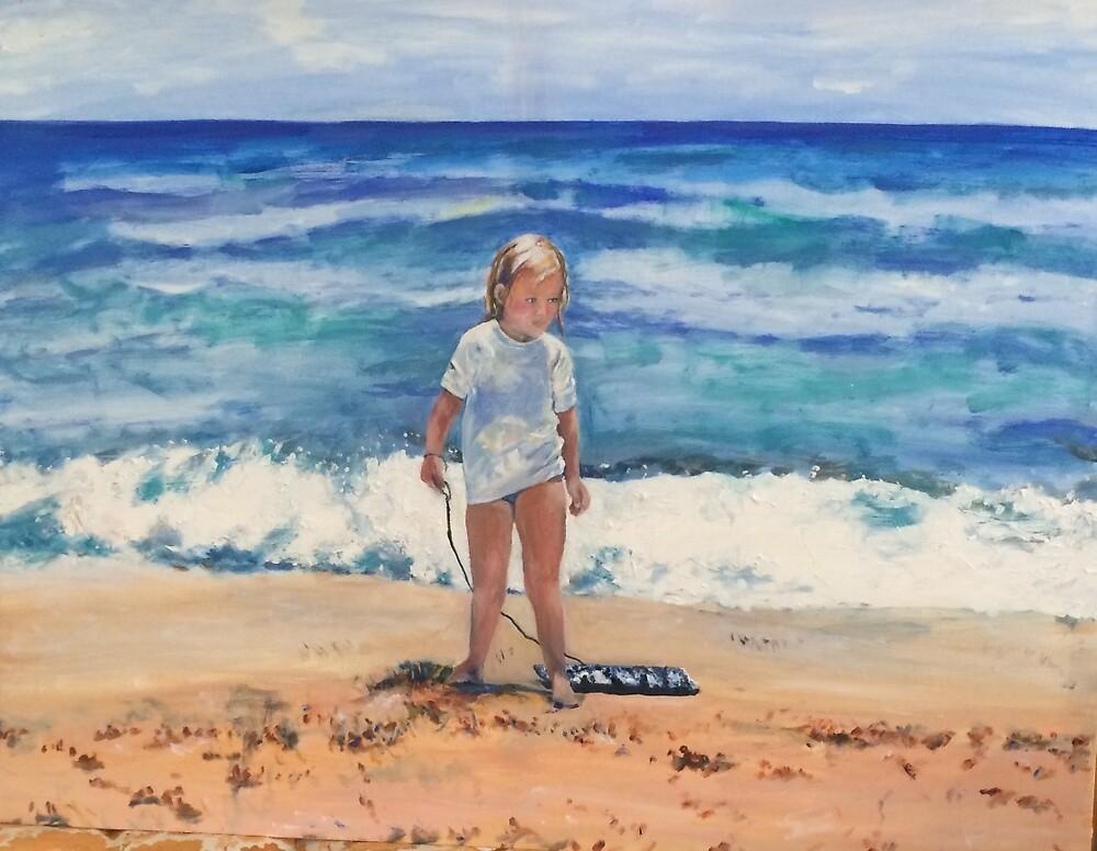 Beach Girl and Her Boggy Board by marlenekurland