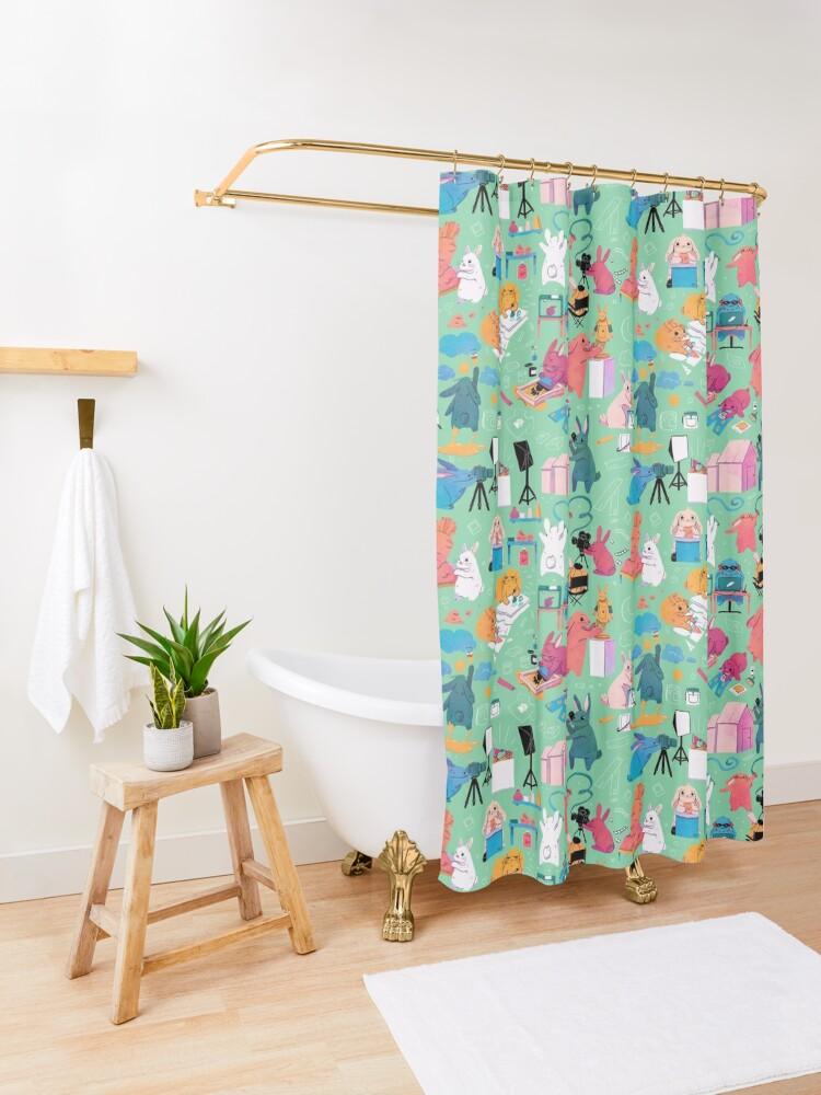 Alternate view of Artbuns Shower Curtain