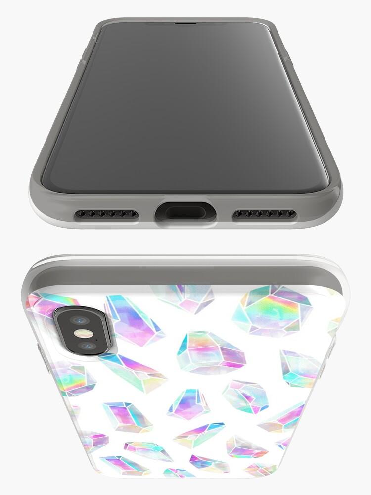 Vista alternativa de Funda y vinilo para iPhone Polígonos Aura