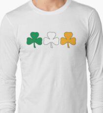 Ireland Shamrock Flag Long Sleeve T-Shirt