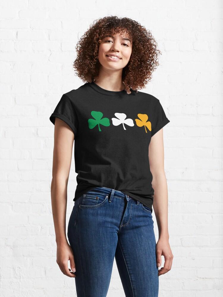 Alternate view of Ireland Shamrock Flag Classic T-Shirt