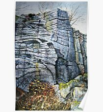 Rivelin Crags Poster
