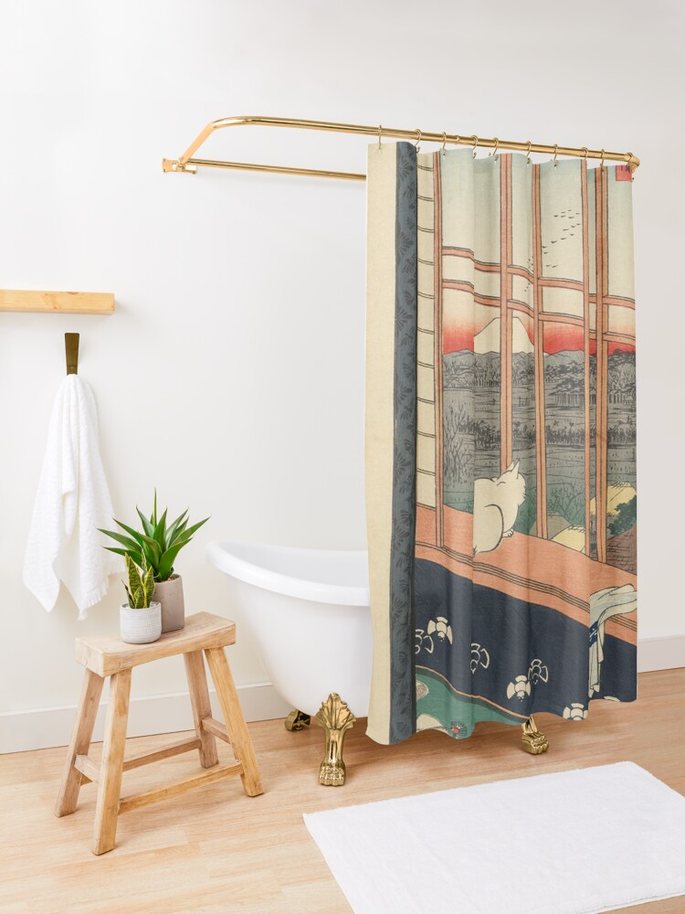 Alternate view of Ricefields And Torinomachi Festival 100 Famous Views Of Edo By Hiroshige Utagawa  Shower Curtain