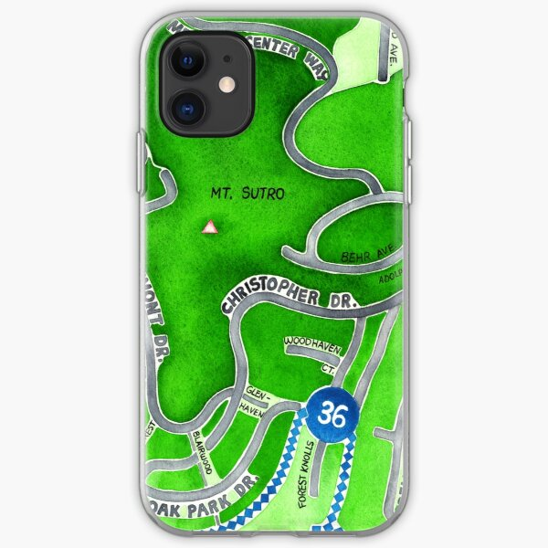San Francisco map - Mt. Sutro iPhone Soft Case