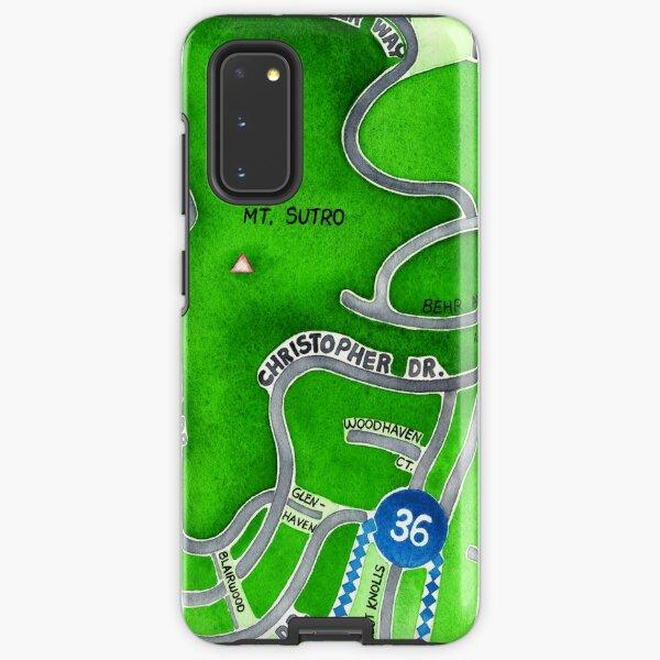 San Francisco map - Mt. Sutro Samsung Galaxy Tough Case