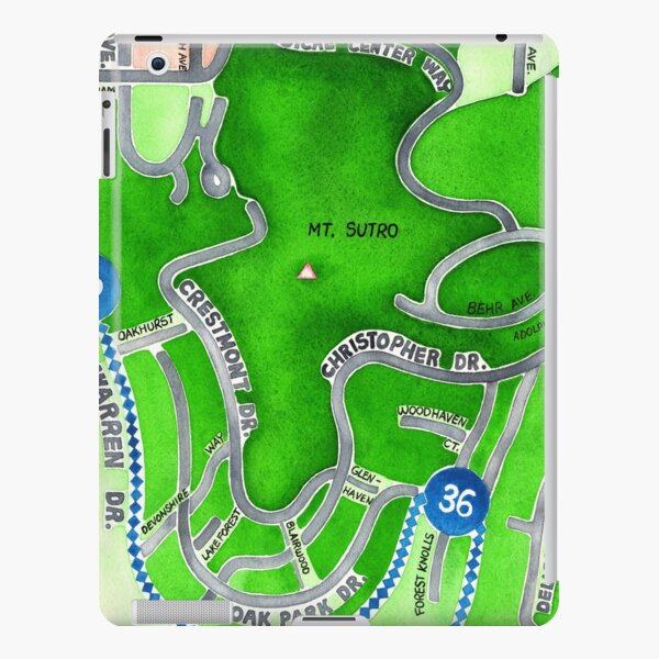 San Francisco map - Mt. Sutro iPad Snap Case