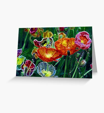 poppies, poppies, poppies Greeting Card