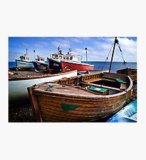 Boats at Beer Photographic Print