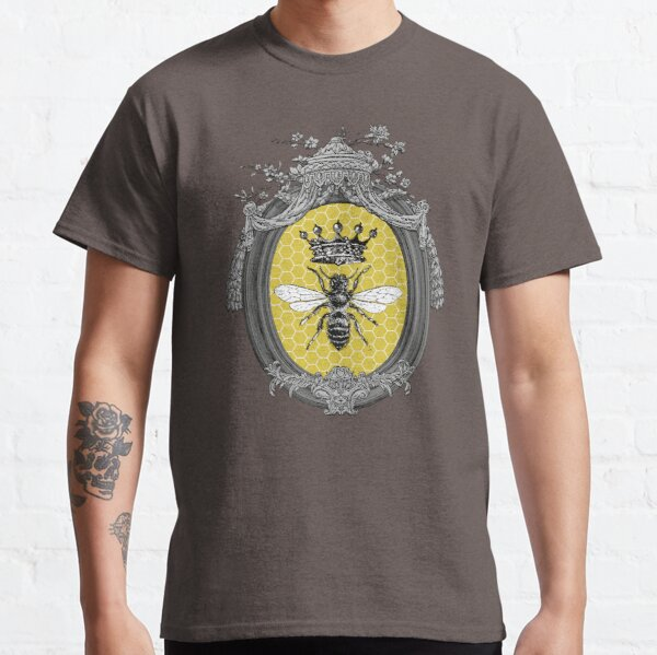 Queen Bee | Vintage Honey Bees | Honeycomb Patterns |  Classic T-Shirt