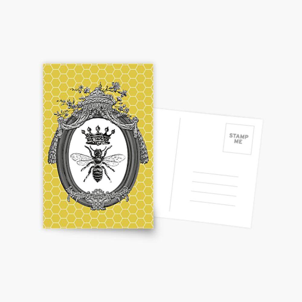 Queen Bee   Vintage Honey Bees   Honeycomb Patterns    Postcard