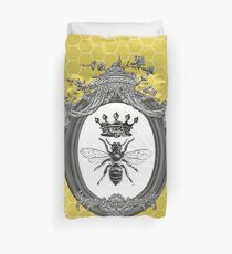 Queen Bee | Vintage Honey Bees | Honeycomb Patterns |  Duvet Cover