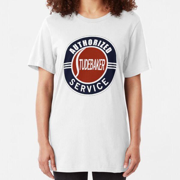 Authorized Studebaker Service vintage sign Slim Fit T-Shirt