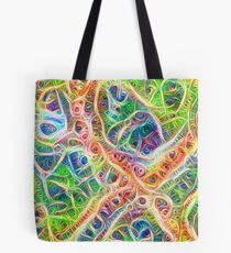Neural network motif Tote Bag