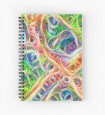 Neural network motif Spiral Notebook