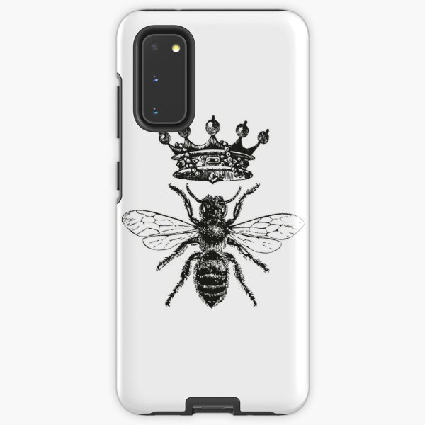 Queen Bee | Vintage Honey Bees | Black and White |  Samsung Galaxy Tough Case
