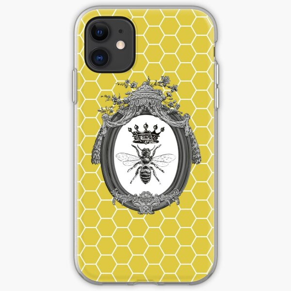 Queen Bee | Vintage Honey Bees | Honeycomb Patterns |  iPhone Soft Case