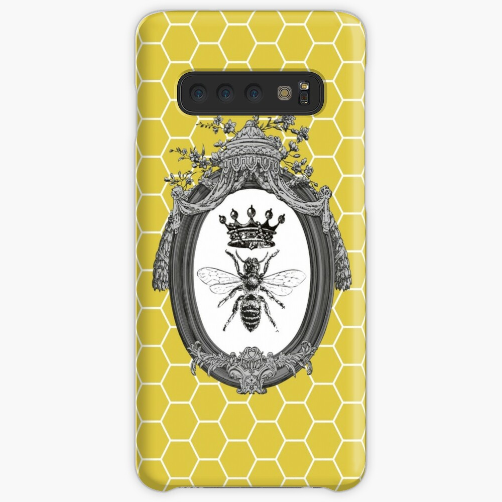 Queen Bee   Vintage Honey Bees   Honeycomb Patterns    Samsung Galaxy Snap Case