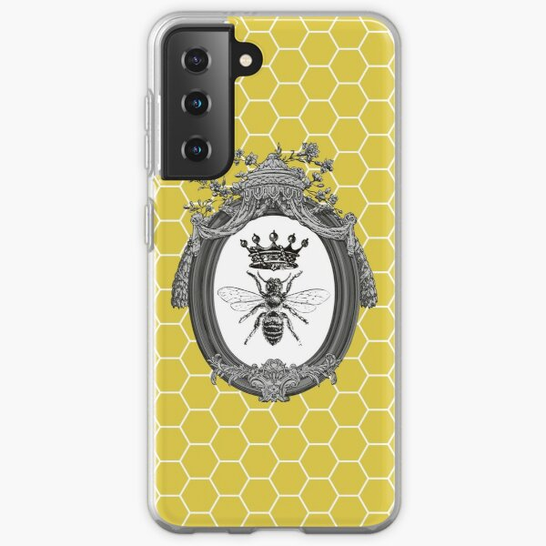 Queen Bee | Vintage Honey Bees | Honeycomb Patterns |  Samsung Galaxy Soft Case