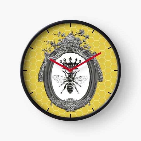 Queen Bee | Vintage Honey Bees | Honeycomb Patterns |  Clock