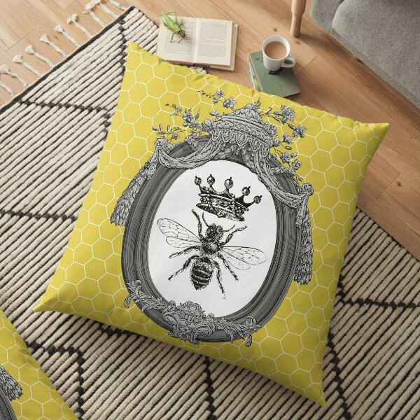 Queen Bee   Vintage Honey Bees   Honeycomb Patterns    Floor Pillow