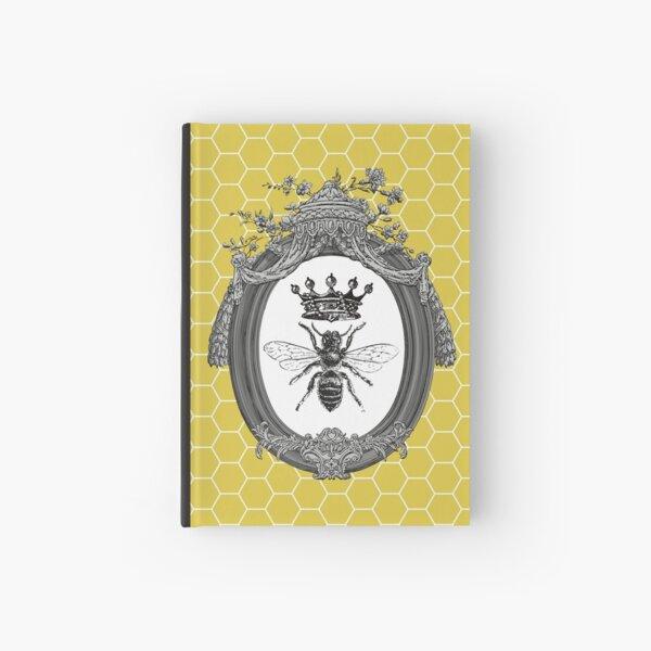 Queen Bee | Vintage Honey Bees | Honeycomb Patterns |  Hardcover Journal