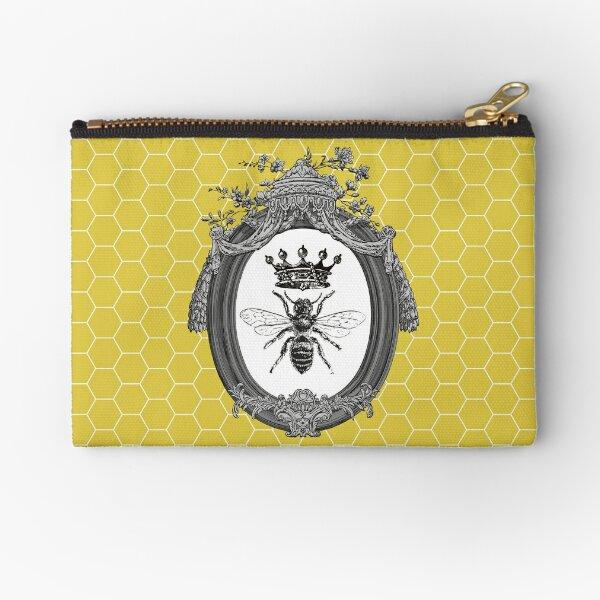 Queen Bee | Vintage Honey Bees | Honeycomb Patterns |  Zipper Pouch