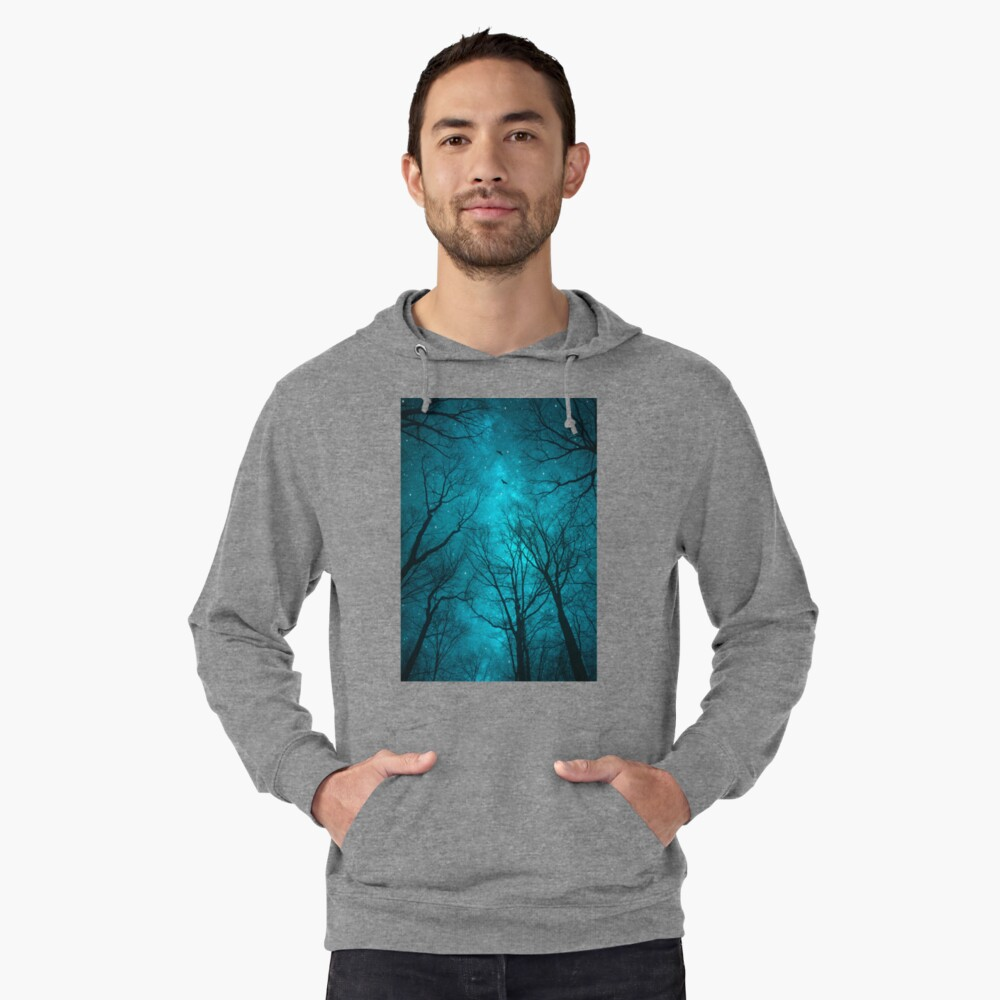 Stars Can't Shine Without Darkness Lightweight Hoodie Front