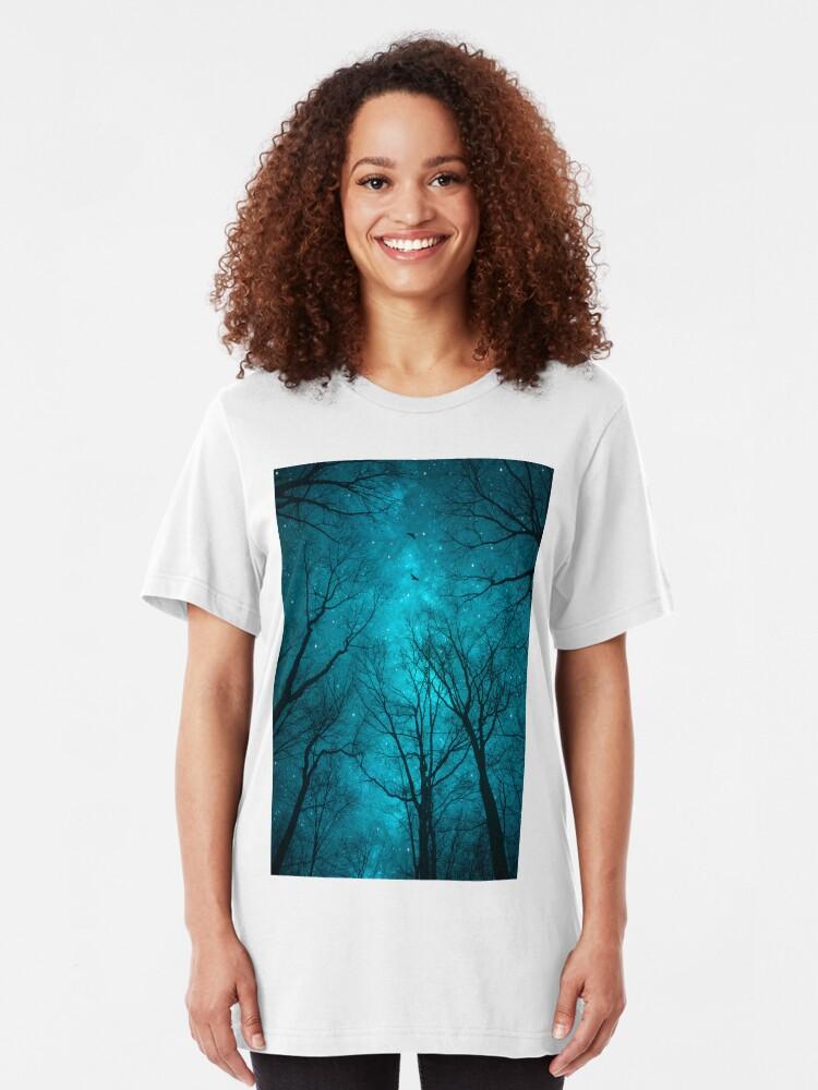 Vista alternativa de Camiseta ajustada Las estrellas no pueden brillar sin la oscuridad