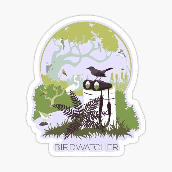 Birdwatcher (greens) Sticker
