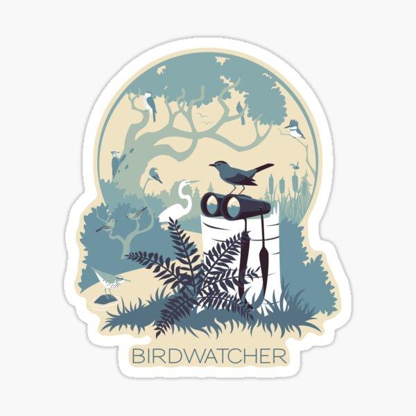 Birdwatcher (blues) Sticker