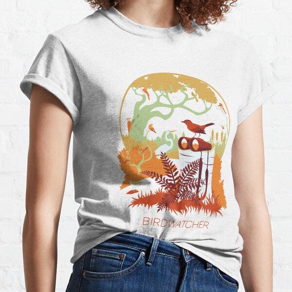 Birdwatcher (reds) Classic T-Shirt