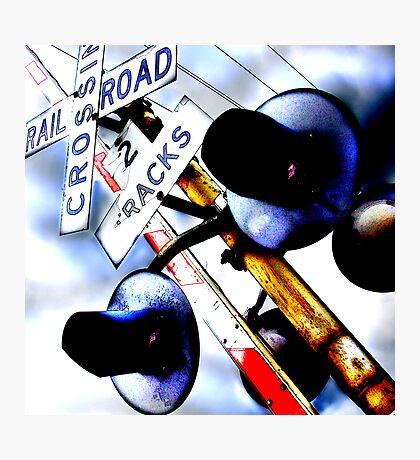 railroad crossing gates Photographic Print