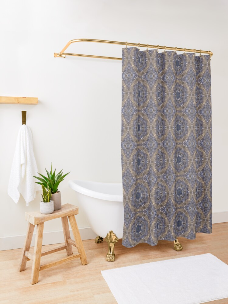 Alternate view of Blue Digital Shower Curtain