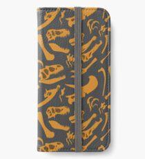 Dinosaur Bones (Grey) iPhone Wallet/Case/Skin