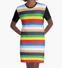 Max's Colourful Striped Outfit Graphic T-Shirt Dress