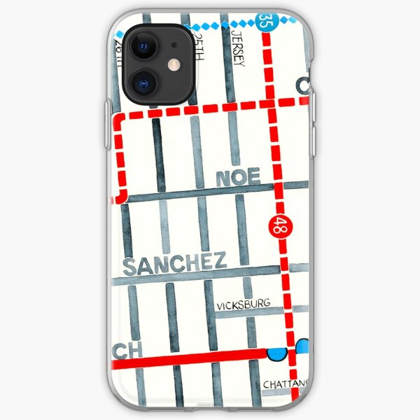 San Francisco map - Noe Valley iPhone Soft Case