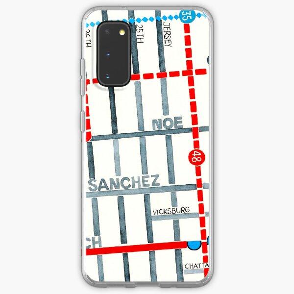San Francisco map - Noe Valley Samsung Galaxy Soft Case