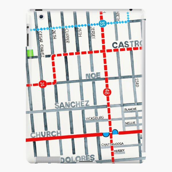 San Francisco map - Noe Valley iPad Snap Case