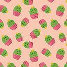 Netter Kaktus im Rosa von owliedesign