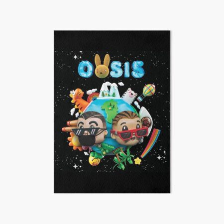 OASIS of J Balvin and Bad Bunny Art Board Print