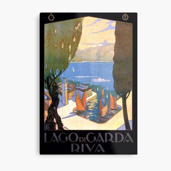 Lago di Garda Lake Garda Vintage Poster Restored Metal Print
