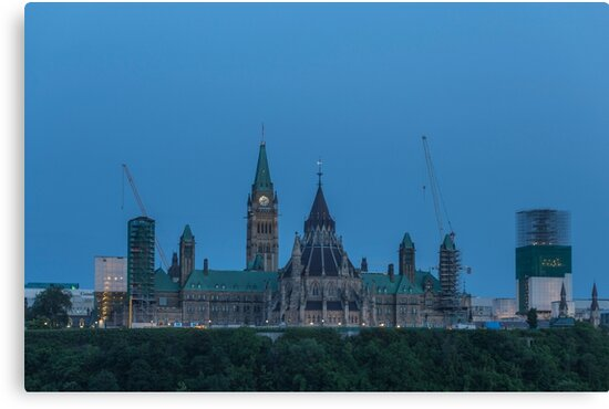 Canada's Parliament buildings - Centre Block by Josef Pittner