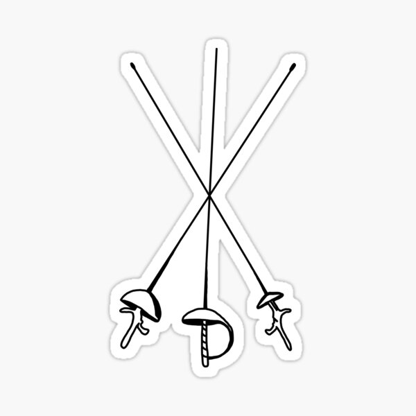 Fencing Weapons Sticker