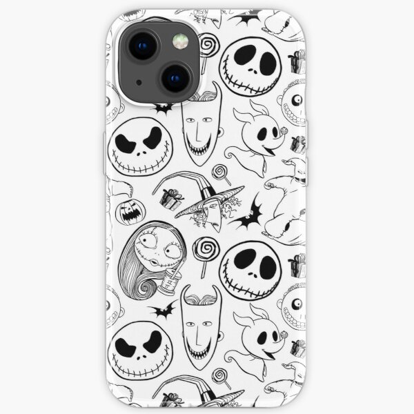 Nightmare before Christmas Pattern iPhone Soft Case