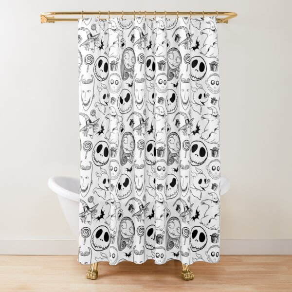 Nightmare before Christmas Pattern Shower Curtain