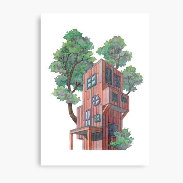Whimsical House I Metal Print